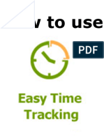 How to Use Easy Time Tracking.