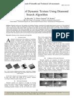 Decomposition of Dynamic Texture Using Diamond Search Algorithm