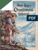 Astrid Lindgren - Oroszlánszivű Testvérek