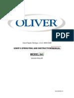 Oliver Manual 641