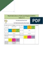 GLOGIFT 15 Schedule at Glance