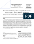 The effort and risk taking effects of budget based contracts