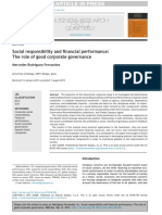 Social Responsibility and Financial Performance- The Role of Good Corporate Governance