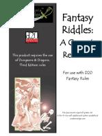 Fantasy Riddles
