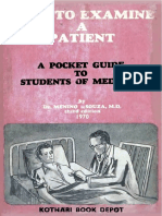 How to Examine a Patient - A Pocket Guide to Students of Medicine (3rd Ed)(Gnv64)