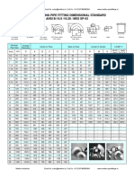 Butt Welded Fittings Dimensions ANSI B-16.9 16.28 MSS SP-43