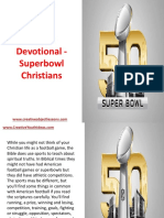 Youth Devotional - Superbowl Christians