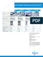 Nordson EFD Automated Dispensing System Comparison Grid