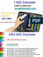 CRJ 422 Academic Success/snaptutorial