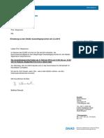 Einladung DAAD Auswahlen Stojanovic