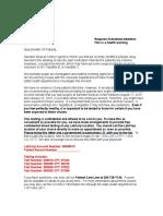 Swedish Medical Center Patient Letter