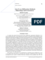 Modern X-ray Diffraction Methods in Mineralogy and Geosciences