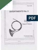 Divertimento Nº 2 for Three Horns w.a. Mozart