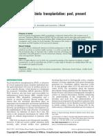 Fecal Microbiota Transplantation (Past, Present, Future)