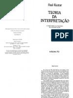 Paul Ricoeur - Teoria da Interpretação - O Discurso e o Excesso de Significação (1976).pdf