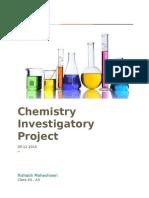 Chemistry Investigatory Project CBSE