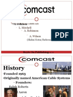 Comcast History and Accounting Summary