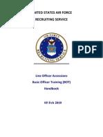 Line Officer Accessions BOT Handbook