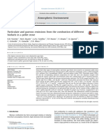 Particulate and gaseous emissions from the combustion of different biofuels in a pellet stove
