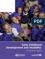 Early childhood development and Disability Unicef Who 2012