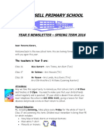 Newsletter Year 5 Spring Term 2016