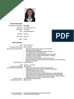 CV Alina Isac