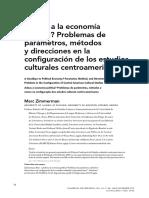 """Marc Zimmerman, """"¿Adiós a la economía política? Problemas de parámetros, métodos y direcciones en la configuración de los estudios culturales centroamericanos"""""""