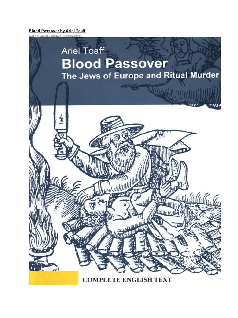 Blood Passover Ariel Toaff Torture Confession Law