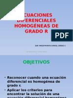 Ecuaciones Diferenciales Homogéneas de Grado r