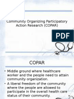 Community Organizing Participatory Action Research (COPAR)
