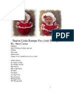 Amy Carrico-festive Little Romper for 5 Inch Berenguer Baby