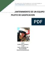 MANUAL DE MANTENIMIENTO DE UN EQUIPO  PILOTO DE GASIFICACION
