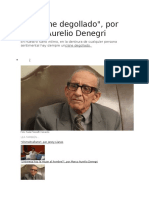 Marco Aurelio Denegri - Un Cisne degollado