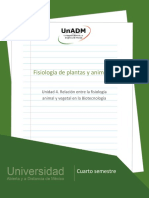 Relacion Entre La Fisiologia Animal y Vegetal en La Biotecnologia