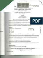Pure Mathematics Unit 1 Paper 1 2008