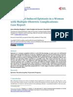 Propanolol Epistaxis Pregnancy
