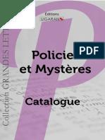 Catalogue Ligaran livres policier et mystères grands caractères