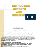 Construction Defects and Remedies Presentation