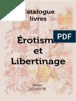 Catalogue Ligaran livres érotisme et libertinage