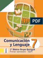 Libro Quiriguá Com. y Lenguaje 1er. Sem