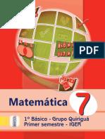 Libro Quiriguá Matemática 1er.sem.15