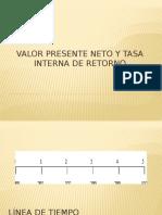 Valor Presente Neto y Tasa Interna de Retorno