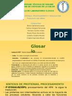 Síntesis de Proteínas, Pprocesamiento y Regulación Traducción Del Arnm