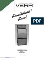 Rivera Knucklehead Reverb Owners Manual