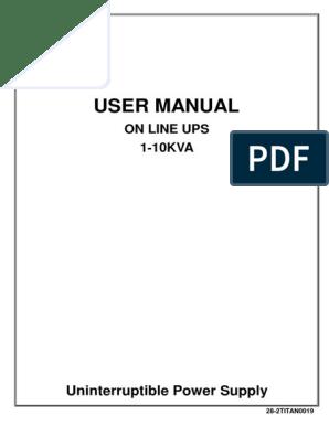 Titan-Powerful-On-Line-UPS-1K-10K-Tower pdf | Electrical