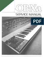 Oberheim Ob-Xa Service Manual 3rd edition