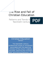 the rise and fall of christian education