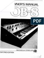 Oberheim OB-8 Owners Manual 2nd Edition
