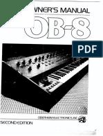 Oberheim OB-8 Owners Manual 2nd Edition