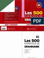 Les 500 Exercices de Grammaire Niveau B2 (1)